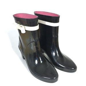 kate spade Shoes - Kate Spade Paloma Black Bow Ankle Rain Boots 8